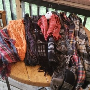 8 Misc Scarves. All excellent condition